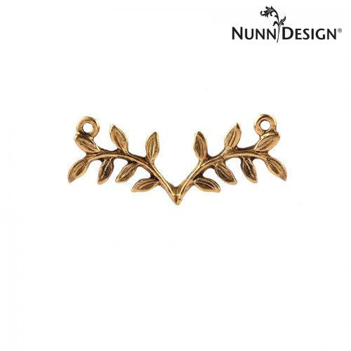 Nunn Design Antique Gold Fern Connector 13x34mm Pk1