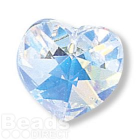 6228 Swarovski Crystal Heart 17.5x18mm Crystal AB Pk1