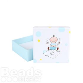 Baby Boy Blue Jewellery Gift Box with Insert 65x25mm Pk1