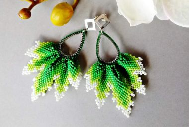 How to make earrings using a geometric drop base - step by step tutorial