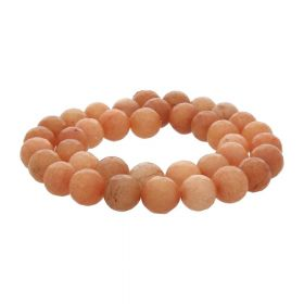 Agate / faceted round / 10mm / pastel orange / 35pcs