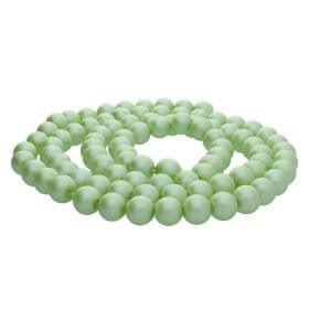 SeaStar™ satin / round / 12mm / pistachio / 70pcs