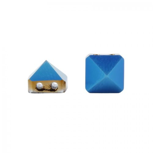 5061 Swarovski Square Spike Two Hole Bead 7.5mm Crystal Metallic Blue Pk3