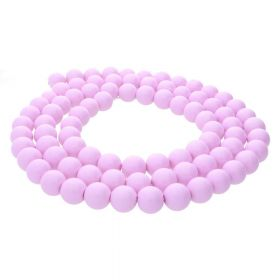 Milly™ / round / 8mm / dark lilac / 105pcs