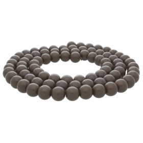 Milly™ / round / 10mm / taupe / 80pcs