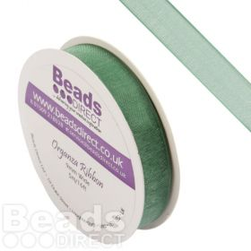 Green Organza Ribbon 9mm Sold on a 5metre Reel