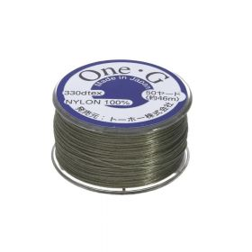 TOHO One-G ™ / nylon thread for beads / Light Khaki / thickness 0.35mm / 46m