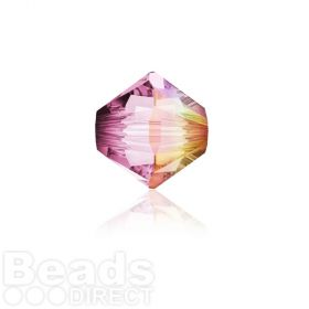 5328 Swarovski Crystal Bicones 4mm Crystal Lilac Shadow Pk1440