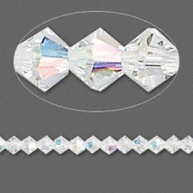 5328 Swarovski Crystal Bicones Xillion 4mm Crystal Clear AB Pk24