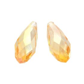 CrystaLove ™ / glass crystal / drop / 8x13mm  / tea / opalescent / 4pcs