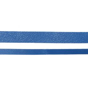Metallic Blue Flat Real Nappa Leather Cord 5mm 2metres