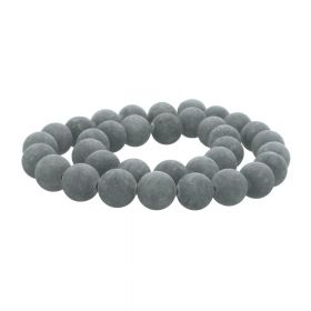 Agate / matte finish / round / 10mm / grey / 36pcs