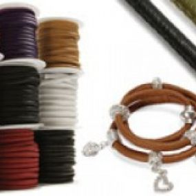 Real and faux leather cord