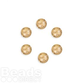 2088 Swarovski Crystal Flat Backs SS34 7mm Golden Shadow F Pk6