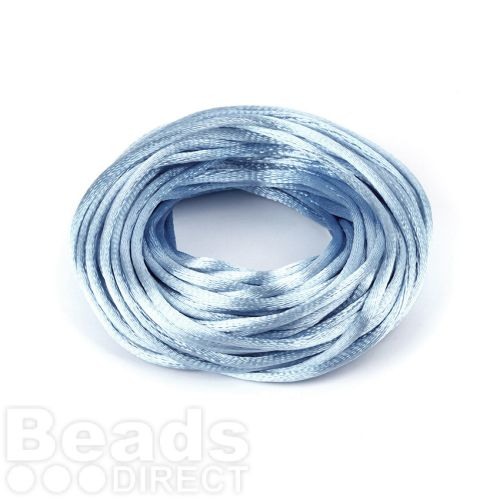 Light Blue 2mm Rattail Satin Cord 10metres
