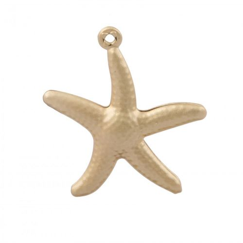 Matte Gold Plated Starfish Charm 20mm Pk1
