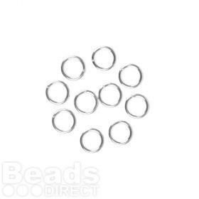 Sterling Silver 925 Jumprings 0.9x6mm Pk10