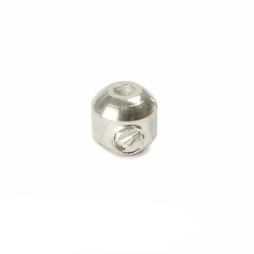 Silver Plated Oval Scrimp Beads 3.5mm Pk12