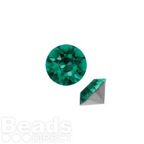 1088 Swarovski Crystal Chaton SS29 6mm Emerald F Pk6