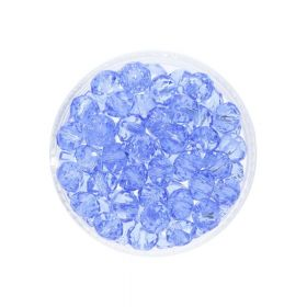 CrystaLove™ crystals / glass / rondelle / 6x8mm / royal blue / transparent / 72pcs