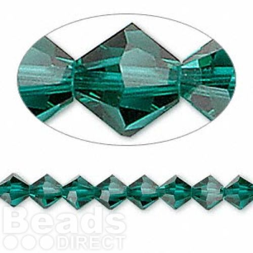 5328 Swarovski Crystal Bicones Xillion 6mm Emerald Pk24