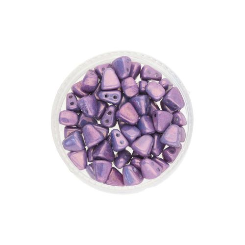 NIB-BIT™ / 6x5mm / Luster Metallic Chalk / Amethyst / 5g / ~27pcs