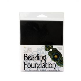 "Beadsmith Black Sturdy Soutache Beading Foundation 4.25""x5.5"" Pk4"