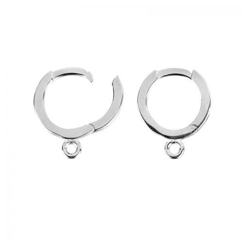 Sterling Silver 925 Earring Rings with Loops 12mm 1xPair