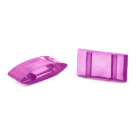Purple Acrylic Carrier Duo Beads 18x9x5mm Pk10