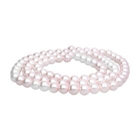 SeaStar™ / glass pearls / round / 10mm / powder pink / 90pcs