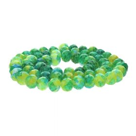 Candy™ / rondelle / 9x12mm / green-yellow / 70pcs