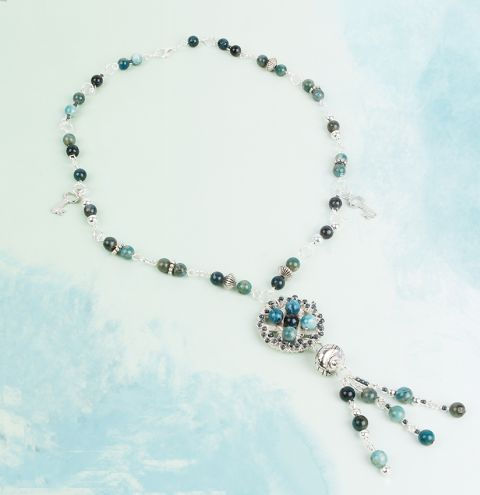 Apatite Tassel Necklace