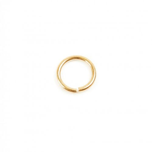 Gold Plated Jump Rings 7mm 1mm Thick Pk50