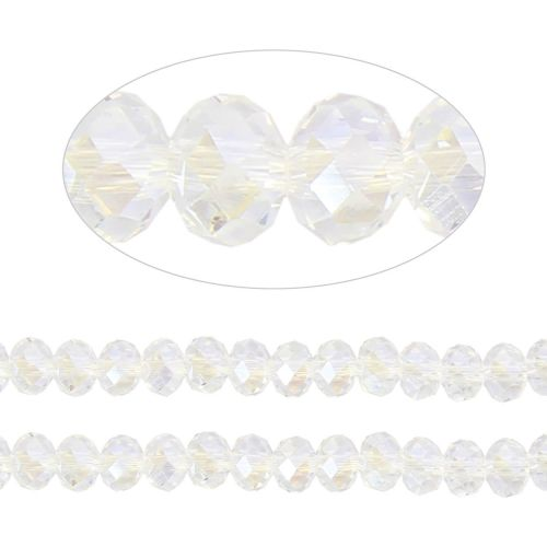 X- Essential Crystal Faceted 6mm Rondelle Crystal AB 100pack
