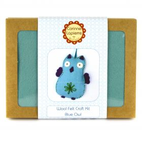Corinne Lapierre Mini Blue Owl Felt Craft Kit