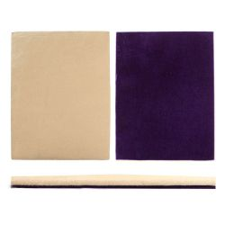 Beads Direct Foam Beading Board Mat in Beige with Purple Underside 40x30cm