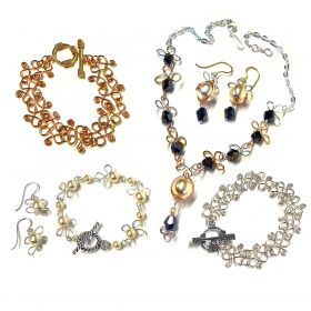 Beads Direct Mass Makes Wire Bracelets Gold and Silver with Jig