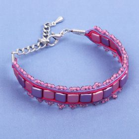 Lavender and Pink Soutache Bracelet Kit - Makes x1
