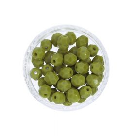 Firepolish ™ / 4mm / Opaque / Olive / 40pcs