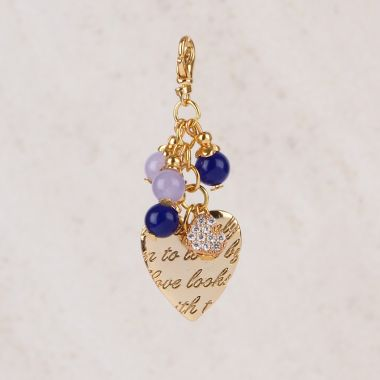 Golden Love Keyring Charm