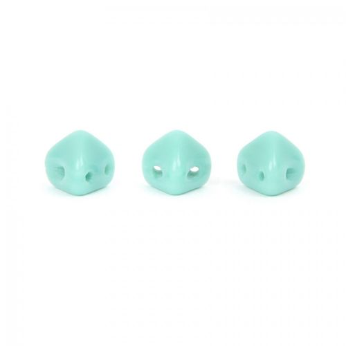 Opaque Green Turquoise Super Kheops Par Puca Beads 6mm 10g