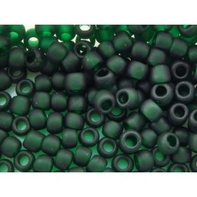 TOHO™ / Round 6/0 / Transparent-Frosted / Green Emerald / 10g