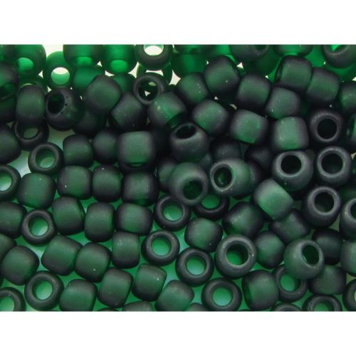 TOHO™ / Round 6/0 / Transparent-Frosted / Green Emerald / 10g / ~ 160pcs