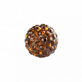 Bronze Crystal 10mm Premium Shamballa Fashion Round Pk1