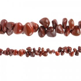"Brown Agate Hand Crafted Nugget Beads 7"" Strand"