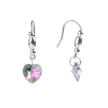 Emma Swarovski Crystal Heart Earrings