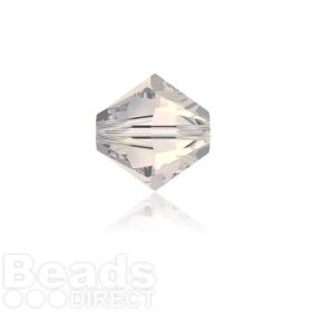 5328 Swarovski Crystal Bicones 4mm Crystal Moonlight Pk1440