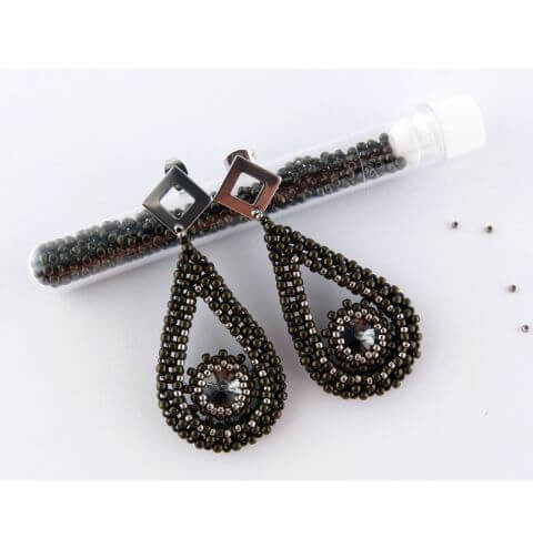 Cubic Right Angle Weave Stitch Earrings - Jewellery Making Tutorial