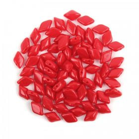 Opaque Red Matubo GemDuo Bead 5x8mm 10g