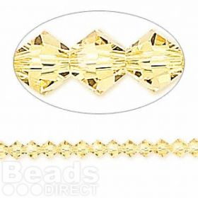 5328 Swarovski Crystal Bicones Xillion 4mm Light Topaz Pk24